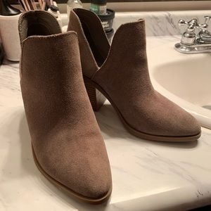Tan Steve Madden ankle booties